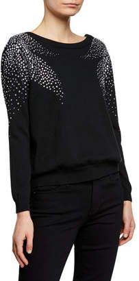 BA&SH Flore Pullover Sweater with Crystal Accents