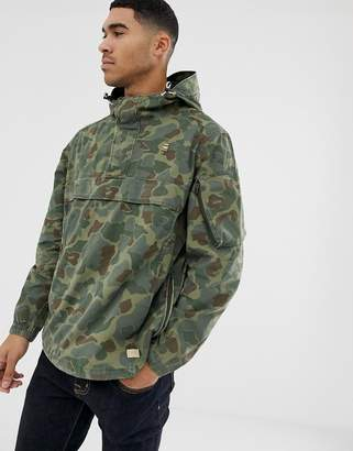 G Star G-Star Xpo over head camo jacket in green