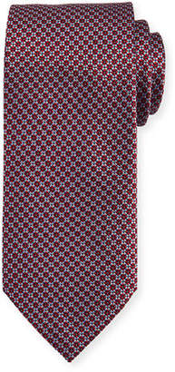 Brioni Textured Diamond Neat Silk Tie $230 thestylecure.com
