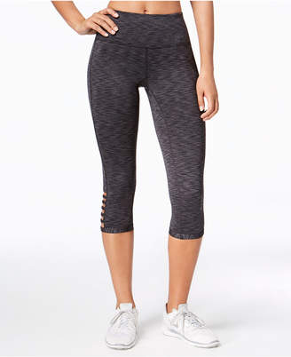 Ideology Space-Dyed Cropped Cutout Leggings