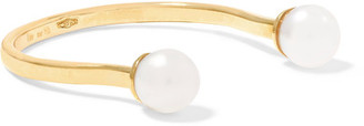 9-karat Gold Pearl Ring - one size