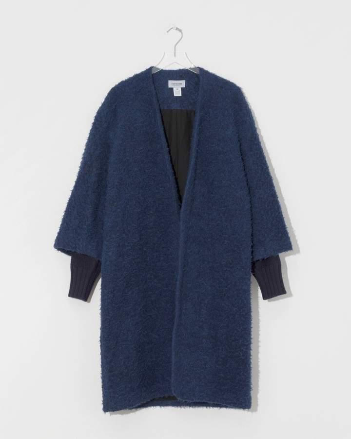 A Detacher Cobalt Fuzzy Cyprian Coat
