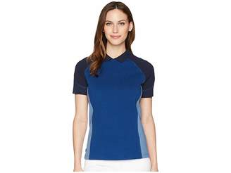 Lacoste Brushed Terry Pique Fade Color Block Polo Women's Clothing