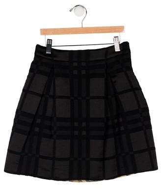 Burberry Girls' Smoked Check Mini Skirt