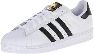 adidas Men's Superstar Basketball Sneaker, White/Black/White, 19 M US