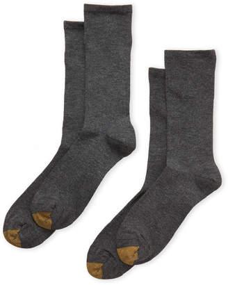 Gold Toe Two-Pack Non-Binding Crew Socks