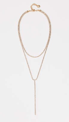 BaubleBar Cup Chain Layered Lariat Necklace