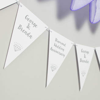 Daisyley Designs Diamond Wedding Anniversary Bunting