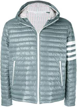 Thom Browne quilted hooded parka