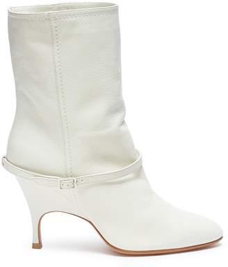 Ballin Alchimia di 'Kari' belted leather mid calf boots