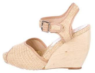 Loeffler Randall Raffia Wedge Sandals