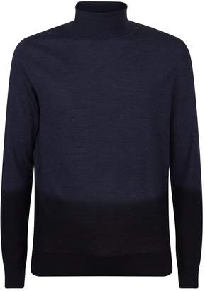 HUGO BOSS Wool-Silk Ombre Roll Neck Sweater