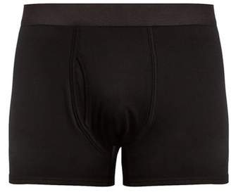 Sunspel - Cotton Jersey Boxer Trunks - Mens - Black