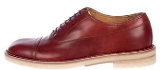 Maison Margiela Leather Round-Toe Oxfords w/ Tags