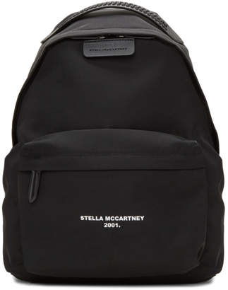 Stella McCartney Black Logo Go Falabella Backpack