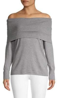 Equipment Off-The-Shoulder Cotton & Cashmere Top