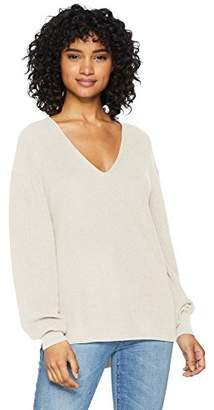 Cable Stitch Women's Bishop Sleeve V-Neck Sweater Top