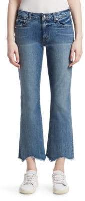 Derek Lam 10 Crosby Gia Distressed Flared Crop Jeans