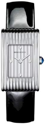 Boucheron Stainless Steel and Diamond Reflet Watch (18mm)