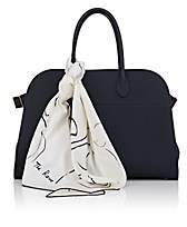 The Row Women's Margaux 15 Leather Satchel & Silk Scarf - Navy