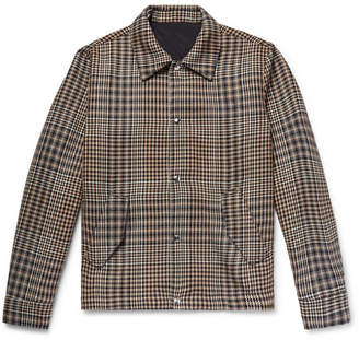 Ami Houndstooth Wool Shirt Jacket