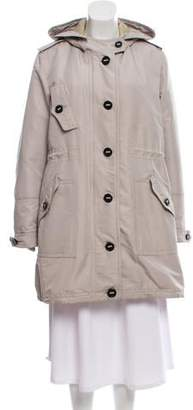 Burberry Hooded Knee-Length Coat