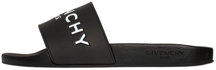 Rubber Logo Embossed Slide Flats