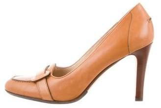 Ralph Lauren Leather Round-Toe Pumps