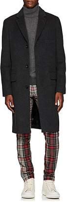 Officine Generale Men's Alfie Virgin Wool-Cashmere Three-Button Topcoat - Gray