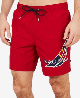 Nautica Men's J-Class Applique Swim Trunks