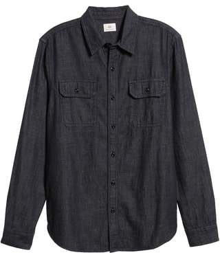AG Jeans Benning Chambray Slim Fit Utility Shirt