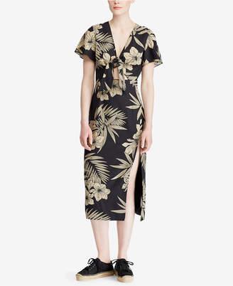 Polo Ralph Lauren Floral-Print Slim Fit Dress