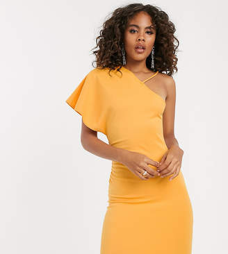Asos Tall DESIGN Tall one shoulder strap mini dress with ruched side