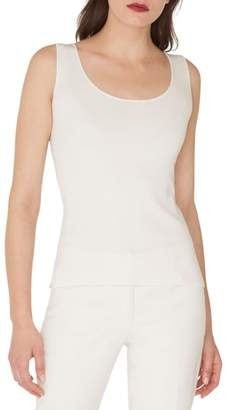 Akris Scoop Neck Stretch Silk Tank