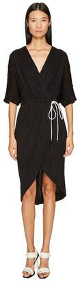 Prabal Gurung Wave Rib Jersey Dolman Sleeve Wrap Dress Women's Dress