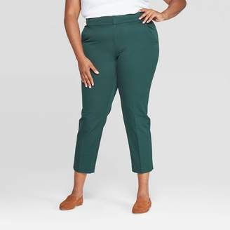 Ava & Viv Women's Plus Size Ankle Pants With Comfort Waistband