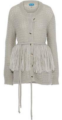 MiH Jeans Rocca Fringe-Trimmed Open-Knit Cardigan
