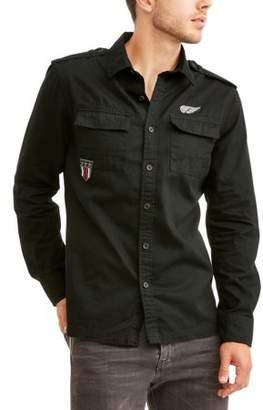 LAZER Men's Long Sleeve Military Shirt Jacket