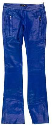 Just Cavalli Flared Leather Pants w/ Tags