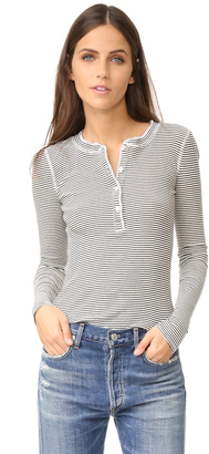 NSF Long Sleeve Stripe Henley $158 thestylecure.com