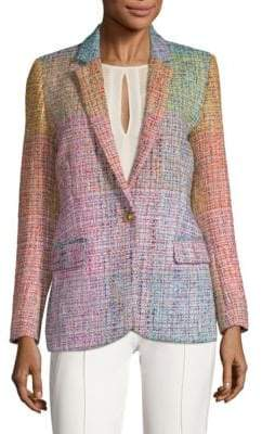 Escada Baurent Wool-Blend Tweed Blazer