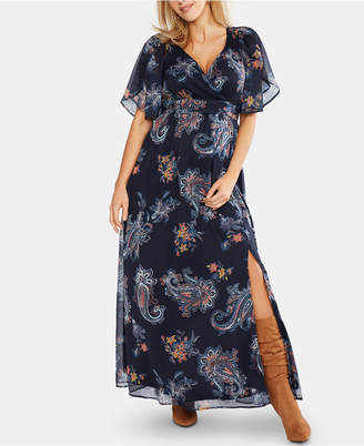 Jessica Simpson Maternity Printed Wrap Dress