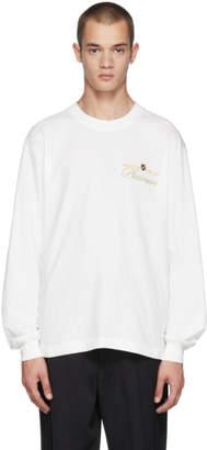 Alexander Wang White Long Sleeve Rodeo Drive Platinum T-Shirt