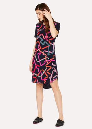 Paul Smith Women's Navy 'Ribbon' Print Jersey Dress