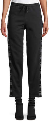 Vetements Straight-Leg Cotton Sweatpants with Tape Detail