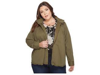 Lucky Brand Plus Size Military Jacket Women's Coat