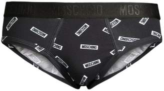 Moschino Allover Logo Tag Briefs