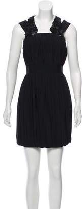 Robert Rodriguez Sleeveless Embellished Dress