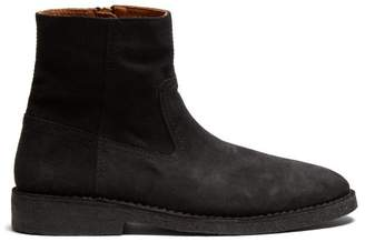 Isabel Marant Clann Suede Ankle Boots - Mens - Black