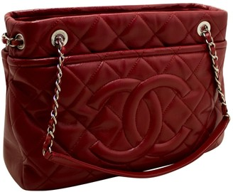 Chanel Red Leather Handbags